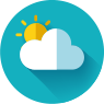 cloudy with sun icon